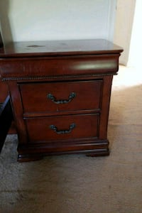 brown wooden 2-drawer nightstand Silver Spring, 20906