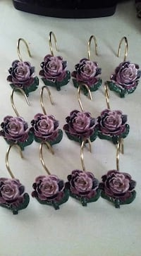 Rose shower curtain hooks 109 mi