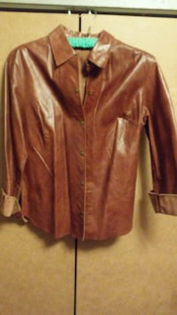 Express Brown leather light jacket sz 11-12 $30 Amarillo, 79108