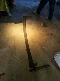 Beautiful Antique 2 person Saw