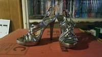 Silver high heel shoes Clinton, 20735