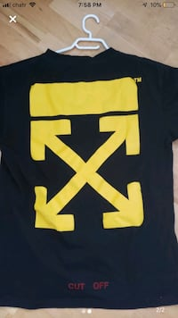 "Off white ""cut off"" tee size L Vancouver, V6M 2N5"