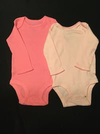 baby's white and pink long sleeve onesie Purcellville, 20132