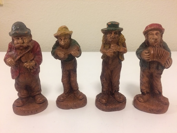 Used vintage syroco hillbilly band figurines clem ben pete and