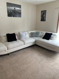 white sectional sofa with throw pillows Columbus, 43026