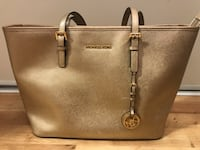 Metallic gold authentic Michael Kors leather tote bag Toronto