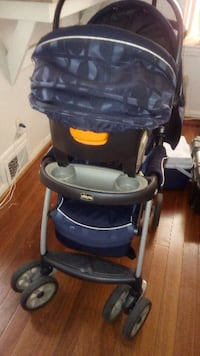 baby's black and gray stroller WASHINGTON