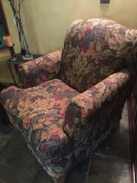 brown and red floral sofa chair Downers Grove, 60515
