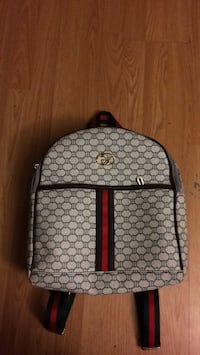 monogrammed brown Gucci leather backpack Ajax, L1T 0L3