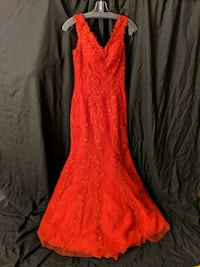 Sherri Hill Red Mermaid Lace Cocktail Dress Los Angeles, 91356
