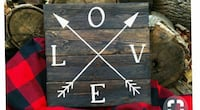 Love text wall decor Watauga, 37694