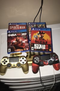 PS4 slim 4 games 2 controllers perfect  Owings Mills, 21117