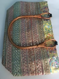 Brown and green shoulder bamboo handle bag Clarksburg, 20871