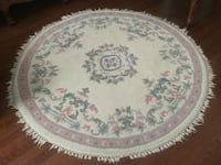 Wool Round hand knotted Carpet.  Vaughan