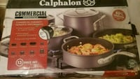 Calphalon Cookware Set Commercial Nonstick 13 Piec Cedar Hill, 75104