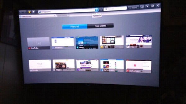 3D Samsung curve smart 55in TV