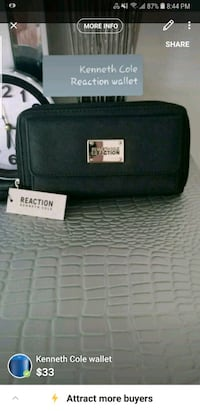 black leather Michael Kors wristlet Brampton, L6R