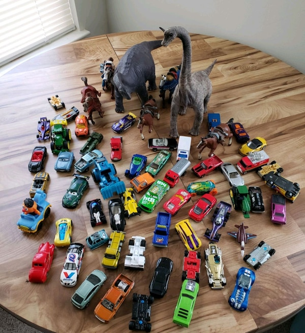Lot of Boys Cars, Dinosaurs and Horses Bundle