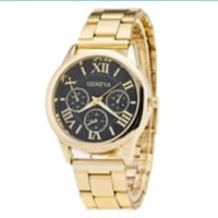 round gold chronograph watch with gold link bracel Baltimore, 21206