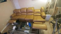 brown leather 3 piece sofa with  2 recliners  Las Vegas, 89130