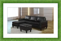 Black Sectional brand new with ottoman Free Shipping! (Ask about pricing) HYATTSVILLE
