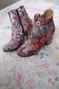 Floral Ankle Boots