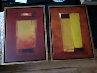 two red and black wooden photo frames Montréal, H2K 4H3
