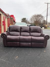 Real genuine Italian leather sofa and loveseat recliner nailhead trim Gaithersburg, 20878