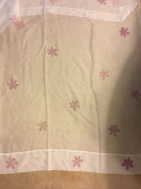 Sheer Panels with Lilac Flowers x4