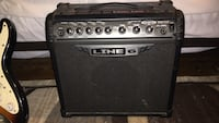 Black and grey Line 6 guitar amplifier