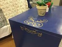 Peacock blue and gold rolling chest GREENSBORO