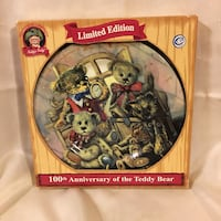 Limited Edition 100th Anniversary Teddy's Teddy Collectible Plate