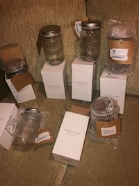 Magnolia home mason  jars .16 ounce set of 6 .not used $14 or best
