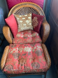 $75 OBO Wicker Chair & Ottoman