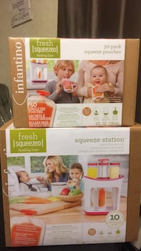 Squeeze station and 50 pouches Leduc, T9E 5R5