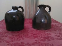 Antique whiskey jugs