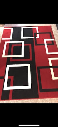 Red and white area rug Gaithersburg, 20878