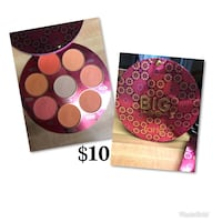 Big blush book tarte eye shadow palette with text overlay collage
