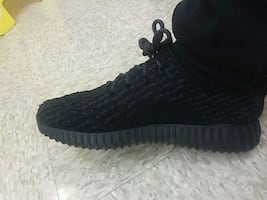 "Adidas Yeezys 350 boost ""black pirates"" shoes"