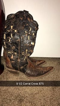 Corral Cross Cowboy Boots Size 9.5