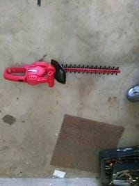 red and black hedge trimmer 1492 mi