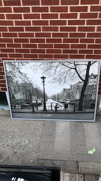 """Amsterdam black and white picture 39 1/2"""" x 55 1/2"""" Central Elgin, N5P 1W3"""