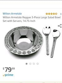 NEW! 3 Piece Wilton Armetale Serving Ware Odenton, 21113