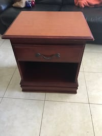 brown wooden single-drawer end table Fort Lauderdale, 33308