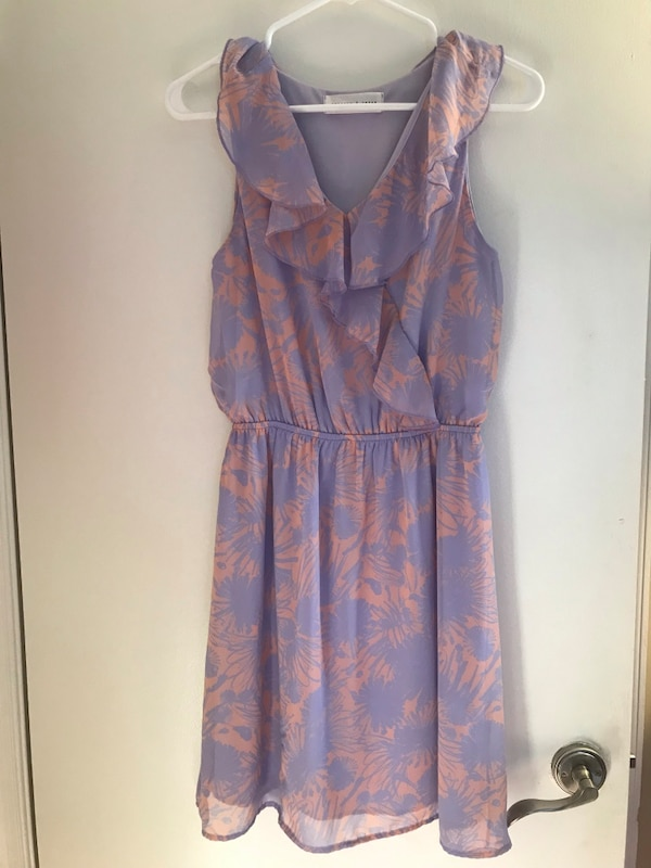 Lavender and Peach Dress