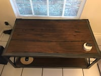 Wood Table with Metal Frame Miami, 33133