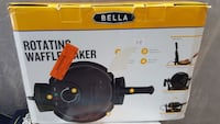black Bella rotating waffle maker box Lancaster, 93536