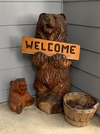 2 Welcome hand carved Bears Oregon City, 97045