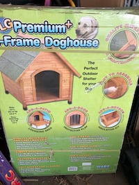 Brand new, still in box wood A-Frame outdoor dog house Shorewood, 55331