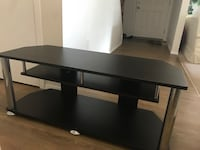 Black wooden single pedestal desk Edmonton, T6K 2R1